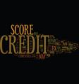 fix credit score text background word cloud vector image vector image