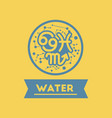 flat icon element zodiacal water vector image vector image