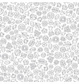 floral leaf seamless pattern flower icon vector image vector image