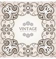 Floral ornamental frame vector image vector image
