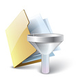 Folder filter icon vector image vector image