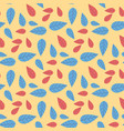 foliage floral texture cartoon seamless pattern vector image vector image