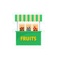 fruits selling icon flat style vector image