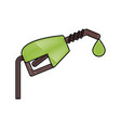 fuel dispenser isolated vector image