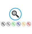 global search rounded icon vector image
