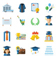 Graduation Day Icons vector image vector image