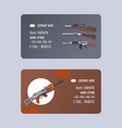 guns and vinchesters store or shop set business vector image vector image
