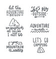 hand drawn lettering set on white background vector image