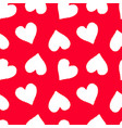 hand drawn seamless red heart pattern valentines vector image vector image