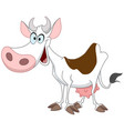 happy cow vector image vector image