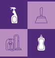 house cleaning design vector image vector image