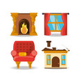 house decoration elements design vector image