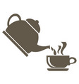 icon for the tea ceremony from the kettle boiling vector image vector image