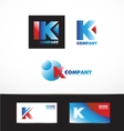 Letter K logo icon set vector image vector image
