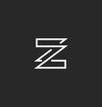 Letter Z logo mockup monogram overlapping style vector image