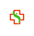 logo cross health vector image