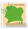 mail to-from Cote dIvoire vector image