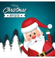 merry christmas card santa claus funny vector image vector image