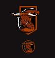minotaur the raging bull symbol vector image vector image