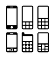 Mobile Phones and Smartphones Icons Set vector image vector image