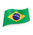 national flag of brazil blue circle with starry vector image vector image
