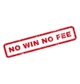 No Win No Fee Rubber Stamp vector image vector image