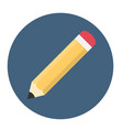 pencil flat icon vector image vector image