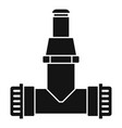 pipe connect irrigation icon simple style vector image