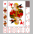 playing cards hearts suit and back in funny