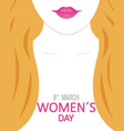 poster happy womens day vector image vector image