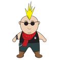 punk boy vector image vector image