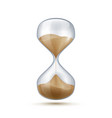 realistic hourglass 3d sand clock old-fashioned vector image vector image