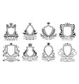 royal shields badges vintage ornamental frames vector image