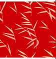 seamless pattern with reed on red vector image