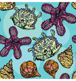 shells seamless 380 vector image vector image