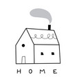 small scandinavian white house simple cozy vector image