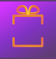 square gradient giftbox made from circle blending vector image vector image