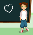 student on the chalkboard vector image vector image