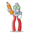 student pliers character cartoon style vector image vector image