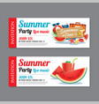 summer pool party invitation ticket template vector image vector image