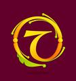 T letter monogram design elements vector image