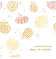thanksgiving pumpkins textile frame corner pattern vector image