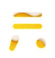 the symbols for alphabet in form lemonade vector image vector image