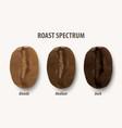 three stage roasting coffee 3d realistic