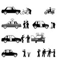 traffic police control road safety and sobriety vector image vector image