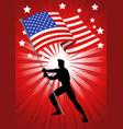 united states of america flag bearer vector image