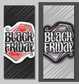 vertical banners for black friday vector image