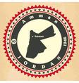vintage label-sticker cards jordan vector image