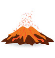 volcano isolated on white photo-realistic vector image vector image