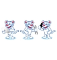 White Tiger Mascot with phone vector image vector image
